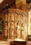 Carved pulpit, All Saints, Trull