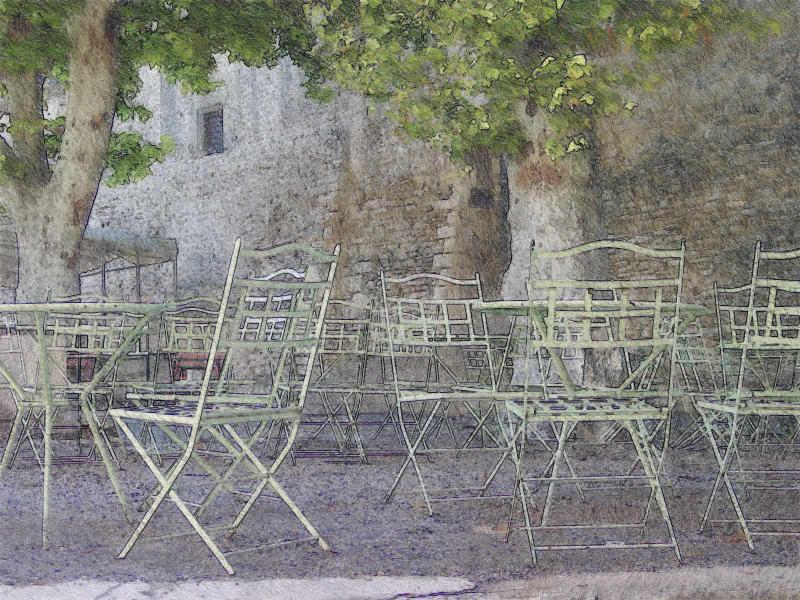 Street Cafe at Gordes
