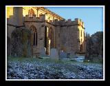 All Saints in the winter sun, Martock