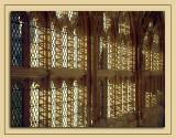 Sunlight through the cloister windows, Wells Cathedral