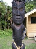 Totara wood carving
