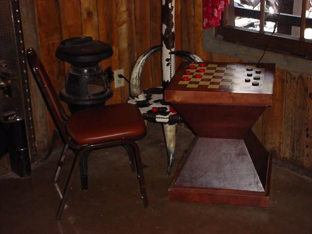 checkers in the lodge