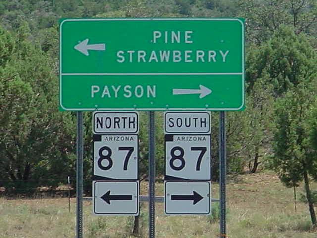 Arizona <br> SR 87 north <br> SR 87 south