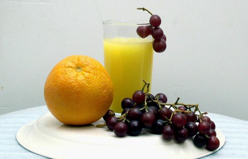 Orange. Grapes and Juice by:<br><b>Pat  Liu