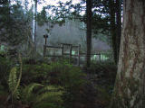 Brink Trail exit gate (1.6) exits to Road