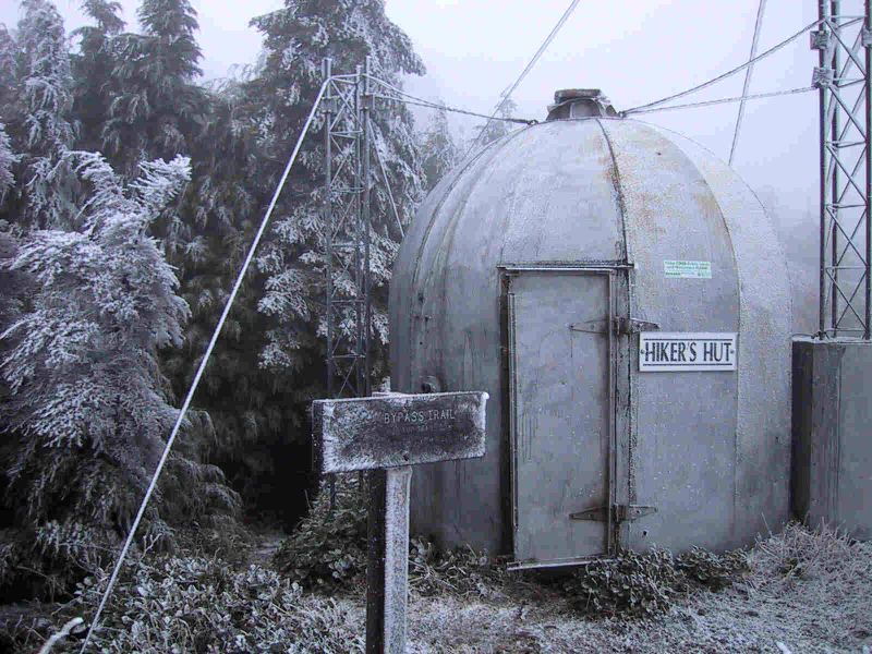 Hikers Hut on T1 (February 2001)
