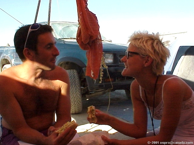 Craig & Cheron Share Alike some food...