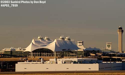 November 2003 - Terminal and Air Traffic Control Tower at Denver International Airport