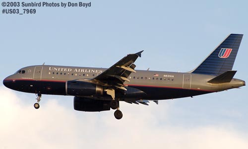 United Airlines A319-131 N831UA aviation stock photo #7969