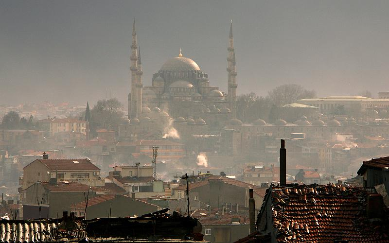 View towards the Suleymaniye Mosque