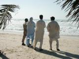 Pakistanis on the beach