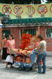 Cart selling offerings, Wong Tai Sin Temple