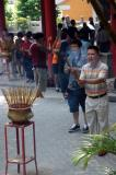 Burning insence, Wong Tai Sin Temple