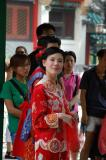 Actress getting ready for a scene at Wong Tai Sin Temple