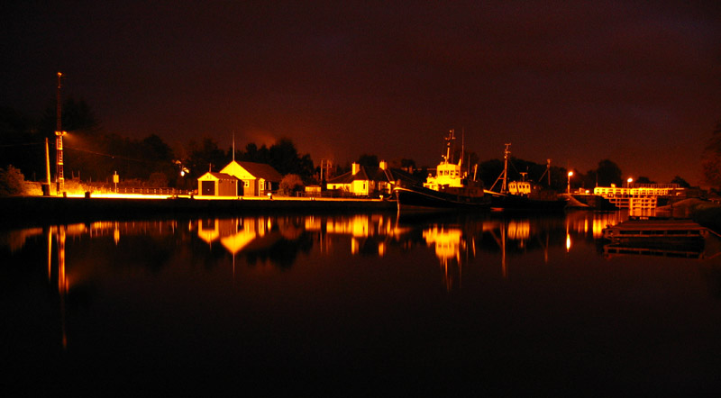 Night reflections Canal Basin Corpach