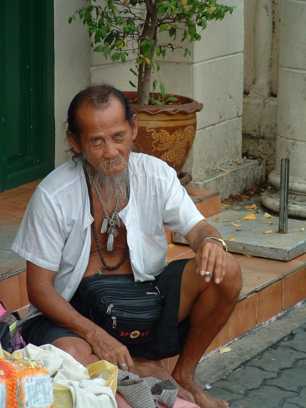Bangkok street merchant