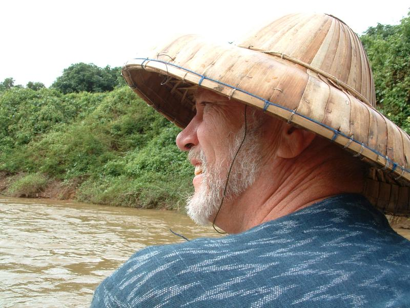 Riding raft on river in ChangMia (thats me)