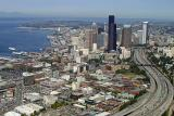 Seattle downtown, departing from Boeing Field