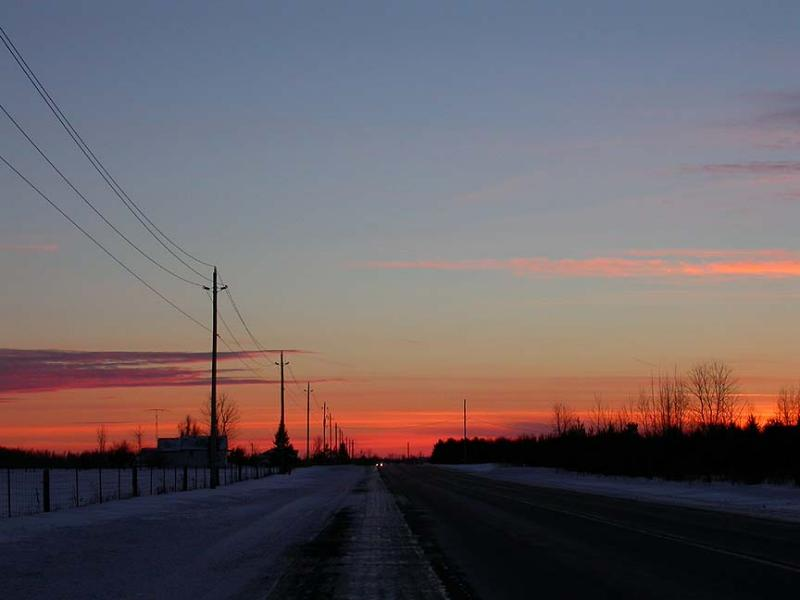 Sunset near the farm