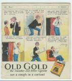 Smaller Old Gold advertisement