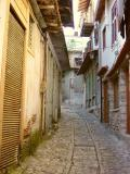 Narrow streets of cobble stone