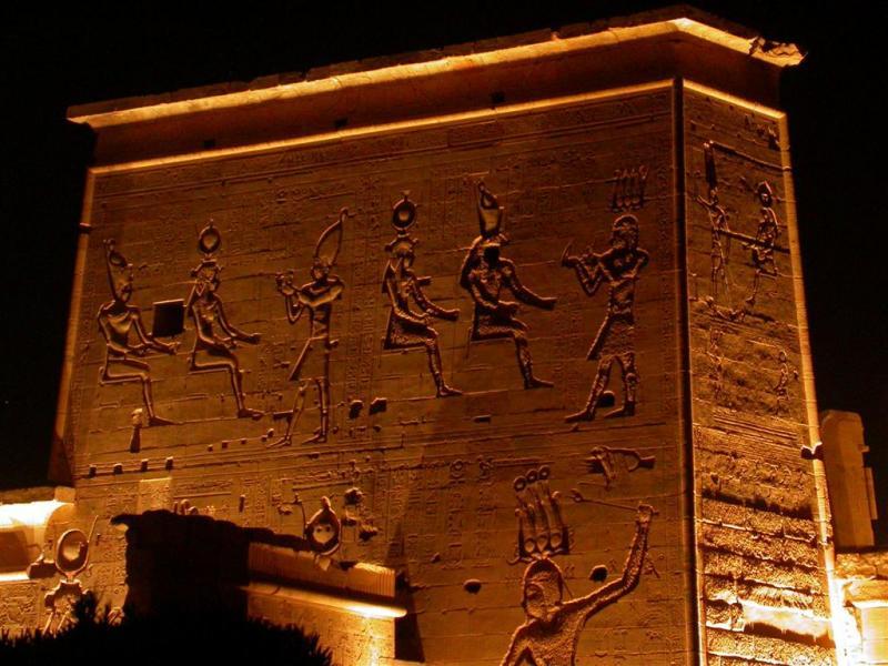 Sons et lumières du temple de Philaé