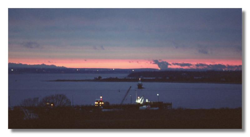 A Sunset on Narragansett Bay