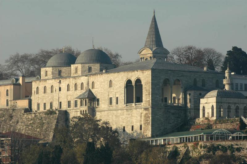 Topkapi palace from Bosporus ferry