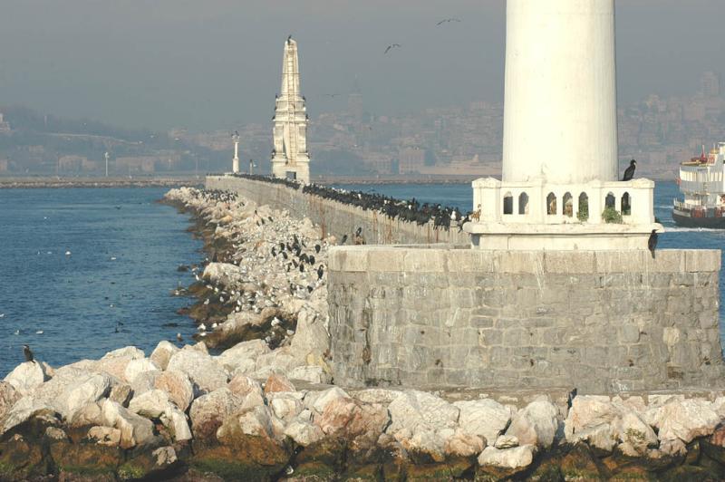 Galata tower from Kadiköy harbour
