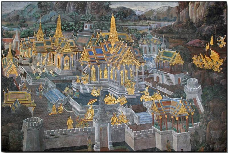 Wall graphic - Wat Phra Kaew