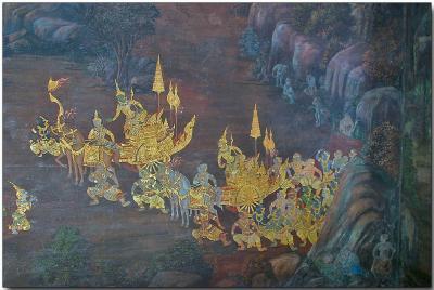 Wall graphic - Wat Phra Kaew