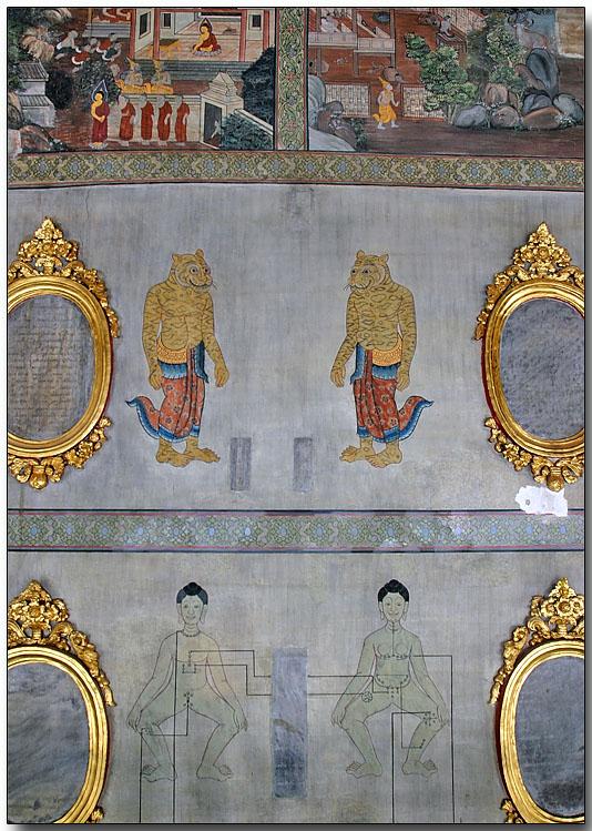 Traditional Thai massage illustrations