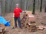 woodsplitting is exhausting!