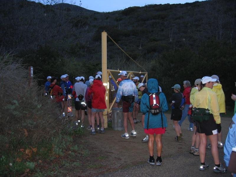 Gathering for the start