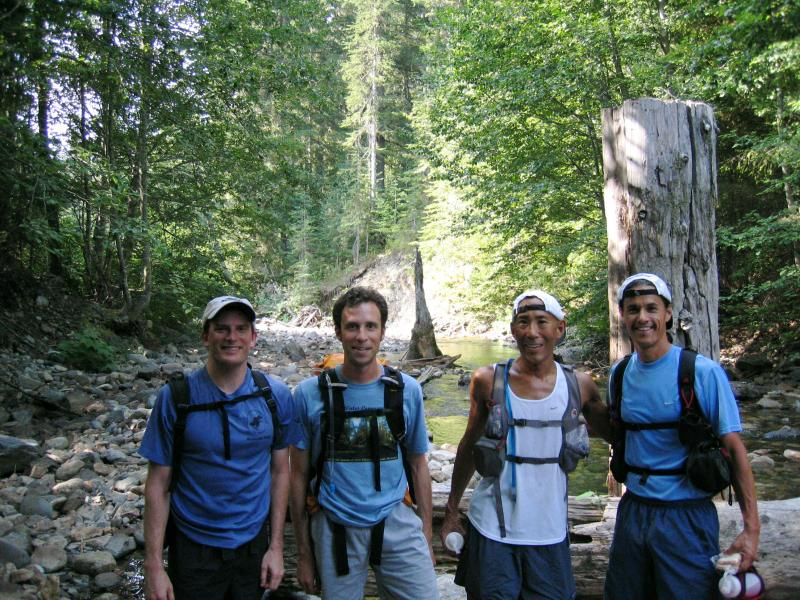 Charlie, Tim, Glenn & Tony<br>Mineral Creek</br>