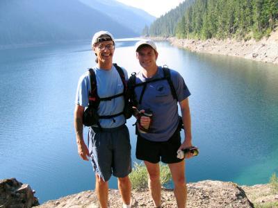 Tony C & Charlie<br>Kachess Lake</br>
