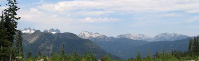Panorama from No Name Ridge