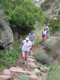 Laura Vaughan leads Krissy, Sally & Brandon up La Jolla Canyon