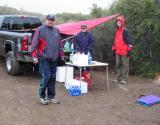 Maria Calvert's aid station