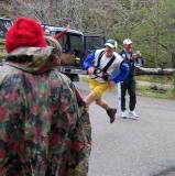 Blake sprints in
