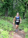 Marlis climbing Thorpe Mt.