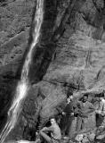 Aprés l'escalade du Mur de la Cascade à Gavarnie JP Leire, JMO, R. Ollivier, Christine Ollivier