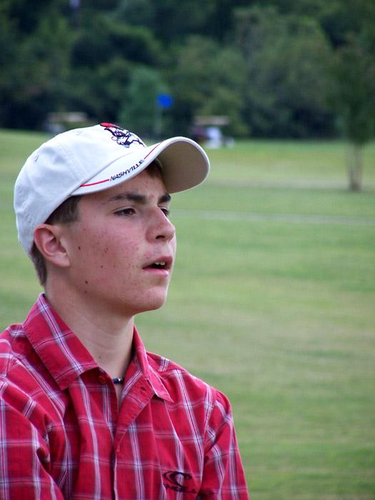 Luke Devonshire seeing where his ball went
