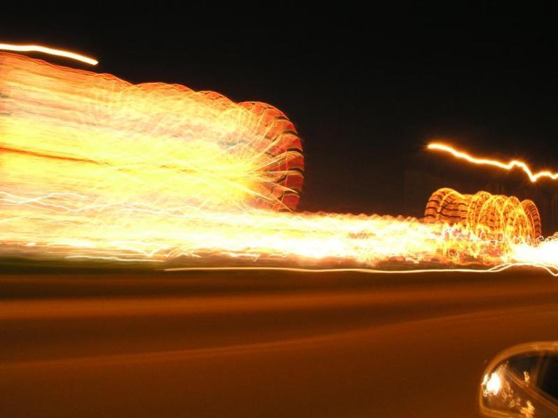 Osceola County Fair, Light Streaks.