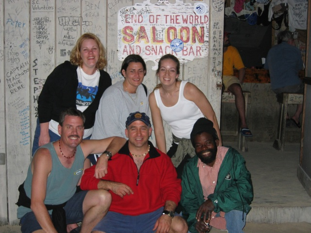 Kim, Charisse, Cindy, Carl, Bill & some local color