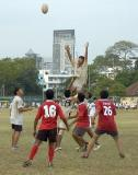 Friendly Rugyby match between schools