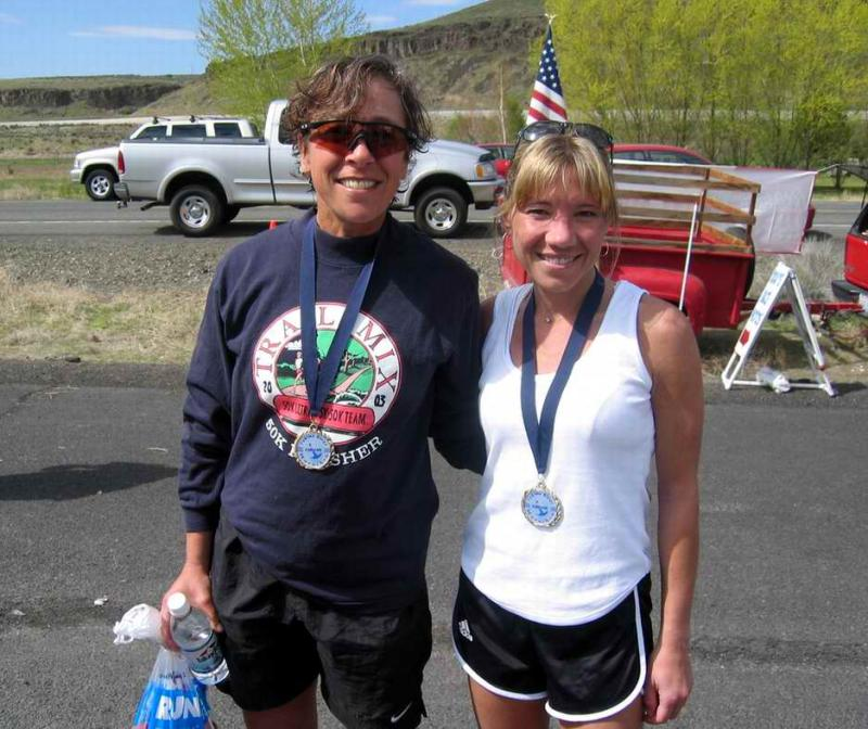 I was happy to see Maura Schwartz at the Yakima Marathon and to find out she moved to the Northwest