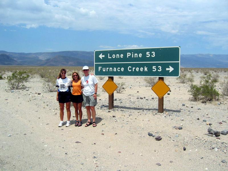 It was strange to drive the course from Lone Pine back towards Vegas.  Its a long course to have covered by foot!