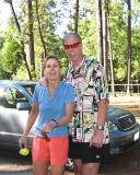 Lisa Hensen (Badwater buckler '03) & Tropical John. I got great advice (esp bandanas!) from Lisa during the WS training runs