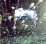 suds on the windshield